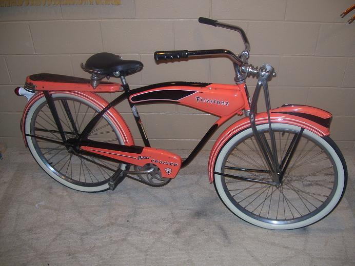 Firestone Super Cruiser Bicycle http://thecabe.com/vbulletin/showthread.php?4700-FS-Firestone-DeLuxe-Cruiser-Monark-WOW!!